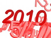 2010 numbers, new year design poster