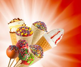 Isolated Image Of Delicious Candy On A Stick Closeup