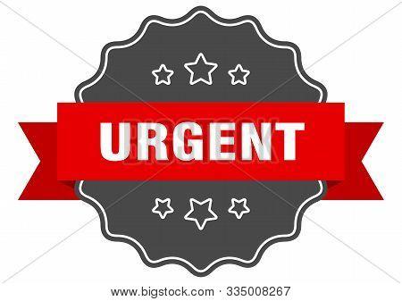 Urgent Red Label. Urgent Isolated Seal. Urgent