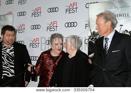 LOS ANGELES - NOV 20:  Paul Walter Hauser, Kathy Bates, Bobi Jewell, Clint Eastwood at the AFI Gala - Richard Jewell Premiere at TCL Chinese Theater IMAX on November 20, 2019 in Los Angeles, CA