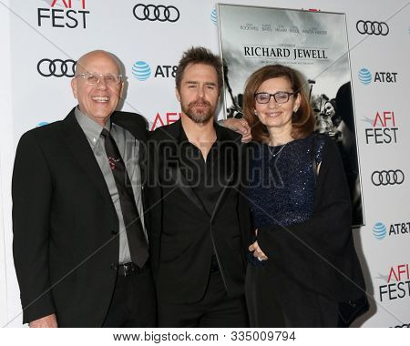 LOS ANGELES - NOV 20:  G. Watson Bryant Jr, Sam Rockwell, Nadya Bryant at the AFI Gala - Richard Jewell Premiere at TCL Chinese Theater IMAX on November 20, 2019 in Los Angeles, CA
