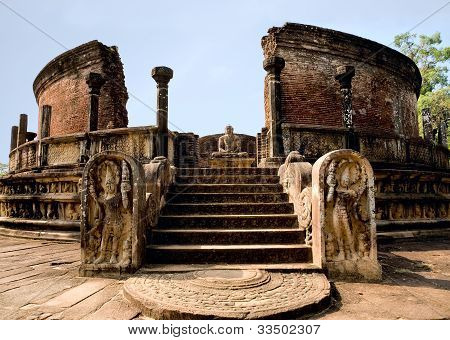 Ancient Polonnaruwa Temple - Medieval Capital Of Ceylon