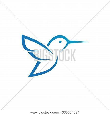 Humming Bird Logo, Flying Little Bird Logo