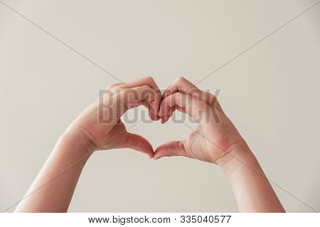 Child Hands Making Heart Shape, Heart Health, Donation, Happy Volunteer Charity, Csr Social Responsi