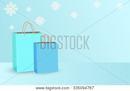 Winter Sale. Winter Sale Vector Banner Design. Winter Season Discount Promotion. Winter Sale  With R