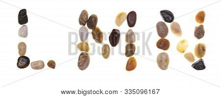 L M N (alphabet) Hand-made Letters With Stones (boulders, Rolling Stones). Typography Collection. Is