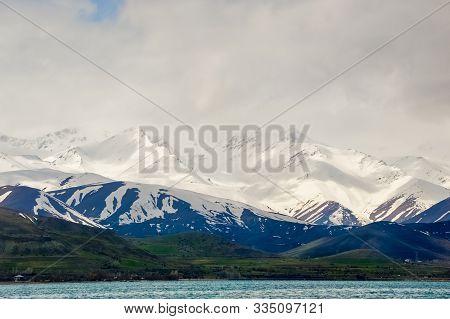 The Dormant Volcano Mount Artos (mt. Çadır) Viewed From Akdamar Island In Lake Van, Eastern Turkey.