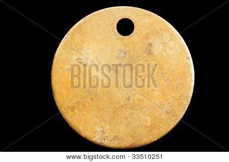 Blank Brass Tag