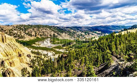 View Of The Yellowstone River Just North Of Tower Junction. The Viewpoint Is At The Downstream End O