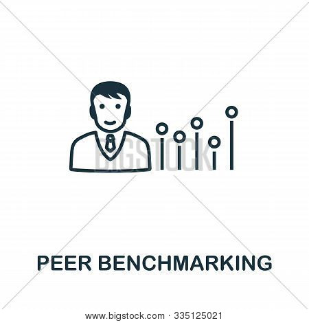 Peer Benchmarking Icon Outline Style. Thin Line Creative Peer Benchmarking Icon For Logo, Graphic De