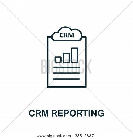 Crm Reporting Outline Icon. Thin Line Concept Element From Crm Icons Collection. Creative Crm Report