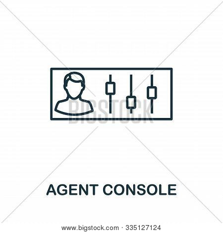 Agent Console Outline Icon. Thin Line Concept Element From Customer Service Icons Collection. Creati