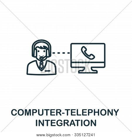 Computer-telephony Integration Outline Icon. Thin Line Concept Element From Customer Service Icons C
