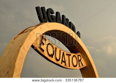The Equator Line, Marking The Equidistant From The North And South Pole, Uganda