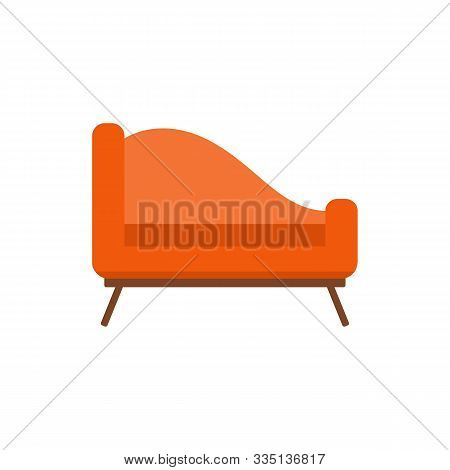 Upholstered Couch Or Divan-bed Single Icon Vector Illustration Isolated.