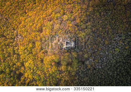 Oltarik Is A Castle Ruin On The Hill Of The Same Name In The Ceske Stredohori Mountains. It Rises Ab