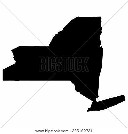 Map Silhouette Of The U.s. State Of New York Vector Illustration Eps 10.