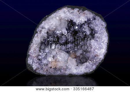 Close - Up Of Raw Amethyst Druse .gemstone - Detail