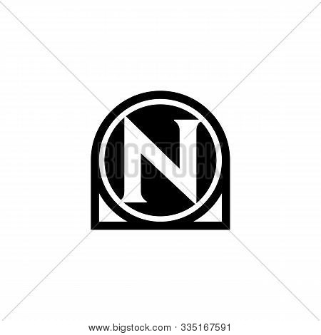 N Letter Icon Design With Circle. Abstract Circle Letter N Creative Alphabet Logo Icon Design. Lette
