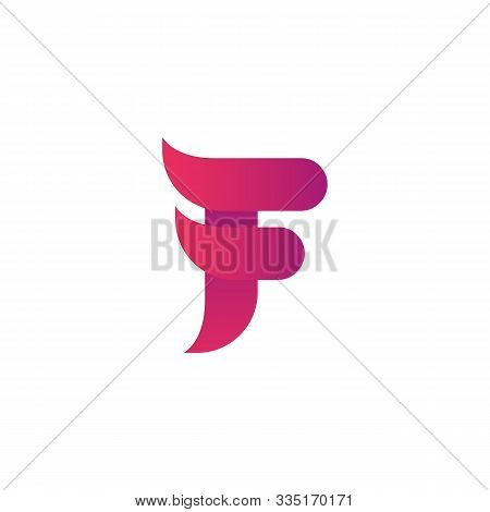 Colorful Creative Letter F Logo Design Vector Template. Colorful Alphabet F Logo. Letter F Typeface.