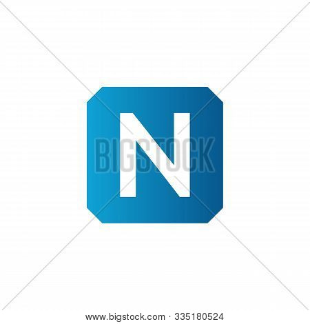 Initial Square Letter N Icon Logo Vector Template. Abstract Square N Logo. Square Letter N App Icon.