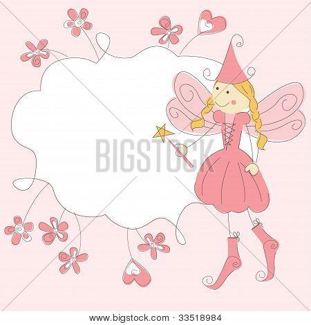 Mädchen-Einladungskarte mit Märchen