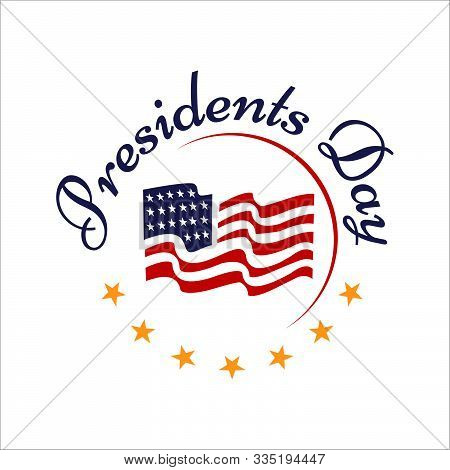 Happy Presidents Day Hand Drawn Text Lettering For Presidents Day In Usa Vector Illustration Graphic