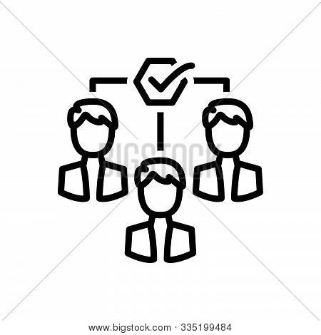 Black Line Icon For  Team-motivation Team Motivation Impellent Encourage Persuasive