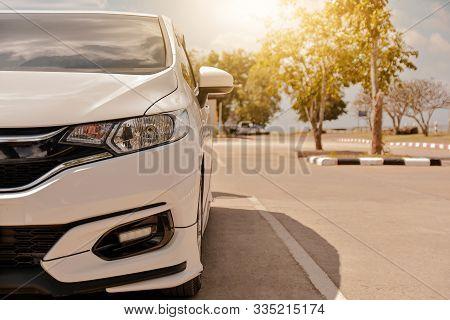 Car Parked On Road,car Parked On Street,transportation Vehicle Automotive Drive