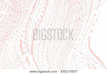 Grunge Texture. Distress Pink Rough Trace. Favorable Background. Noise Dirty Grunge Texture. Posh Ar