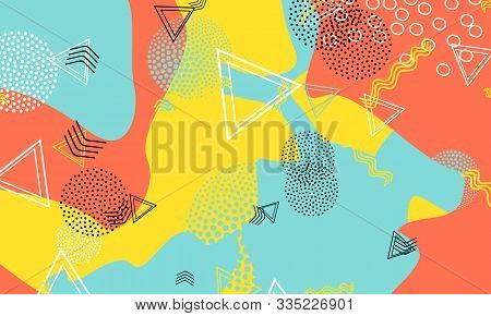 Vector Elements. Amber Decorative Ornament. Blue Cute Print. Funny Background. Baby Blue Spotty Illu