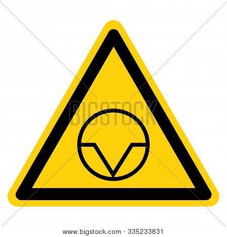 Warning Pause Interruption Symbol Sign, Vector Illustration, Isolate On White Background Label. Eps1