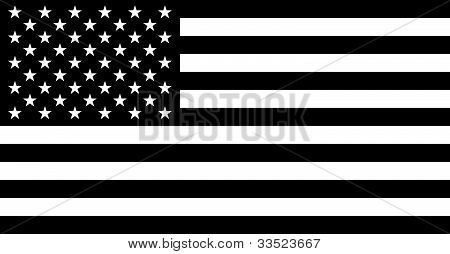 American Flag Black Silhouette.eps