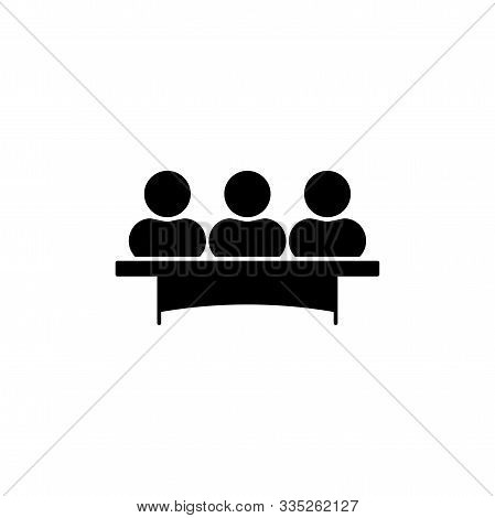 Jury Group Committee Vector Icon. Jurors Sign, Symbol