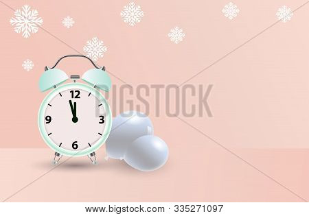 Alarm Clock Logo Icon Set. Watch Object, Birthday Time. Clock Realistic Icon. Time Logo. Watch Logo.