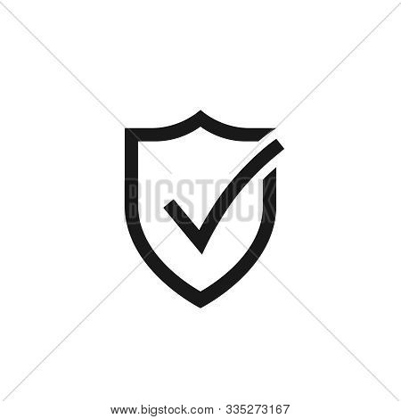 Secure Internet Icon. Protective Shield Sign Digital Security. Symbol Protection Web. Checking Symbo