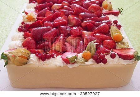 Marzipan Strawberry Cake