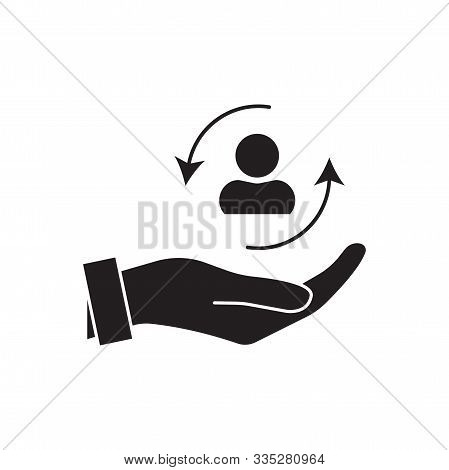 Care Customer Icon, Total Inclusive Service, Lsymbol On White Background - Editable Stroke Vector Il