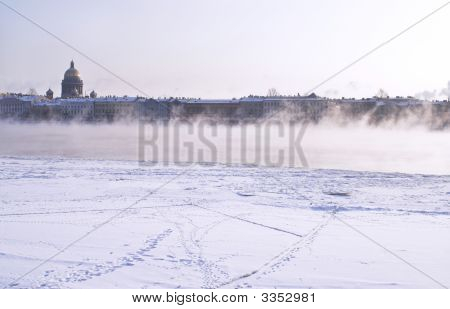 Fogged Neva River