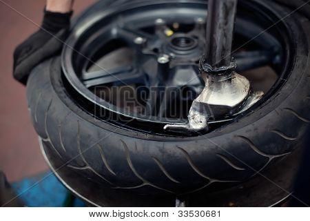 Motorcycle Tyre Repair