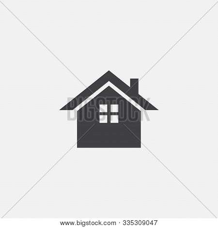 House Or Home Vector Icon, Home Vector Icon Illustration Sign, Home Simple Icon, Small House Icon Ve