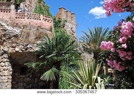 View Of The Castle Wall And Battlements, Marbella, Malaga Province, Andalucia, Spain, Western Europe