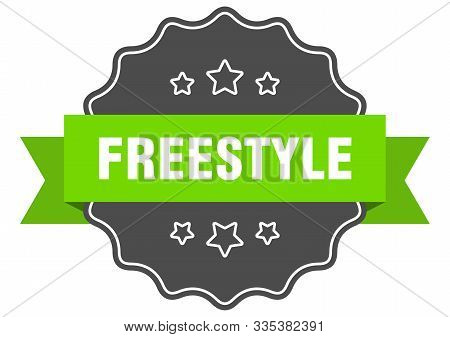 Freestyle Isolated Seal. Freestyle Green Label. Freestyle