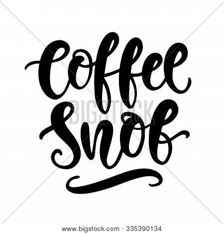 Coffee Snob Hand Written Lettering. Funny Creative Phrase For Social Media Post, Tee Shirt, Mug Prin