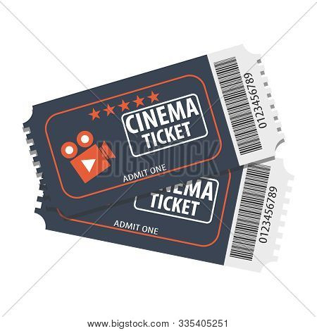 Movie Ticket Cinema Concept With Ticket Icons Design, Vector Illustration. Fresh Design Ticket Vecto