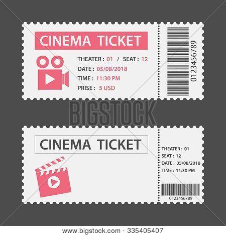 Movie Ticket Cinema Concept With Ticket Icons Design, Vector Illustration. Fresh Design Ticket Vecto