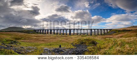 Panorama Of Ribblehead Viaduct, Which Carries The Settle To Carlisle Railway Across Batty Moss Spann