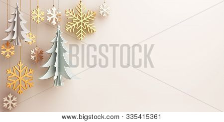 Winter Greeting Card, Winter Background With Copy Space For Text, Winter Banner, Winter Abstract Bac