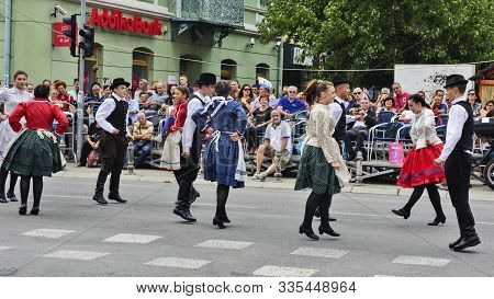 Vrsac, Serbia, Banat, September 17, 2017. Street Traditional Folklore Event In The Town Of Vrsac.