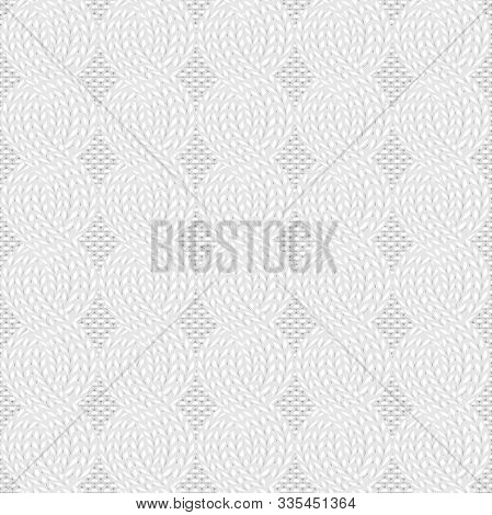 Seamless Cable Knit White Pattern. Christmas Backgroung